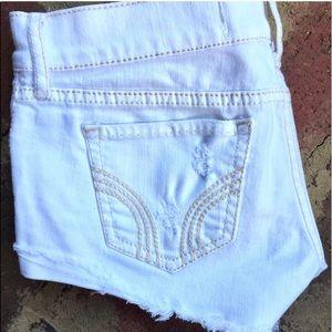 Pants - Hollister white jean shorts